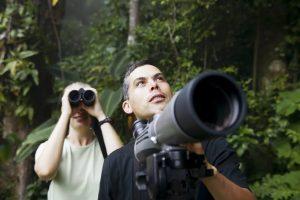 A Telescope vs Binoculars